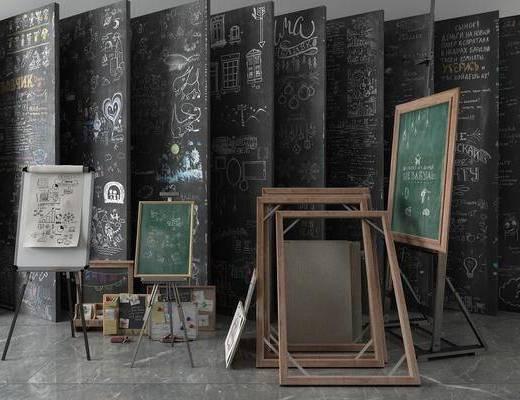 画板白板, 黑板, 现代