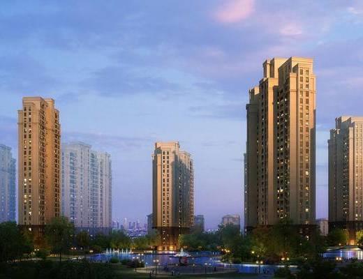 大厦, 建筑, 住宅, 楼盘, 现代