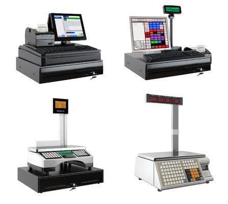 电子秤, 收银机, 现代