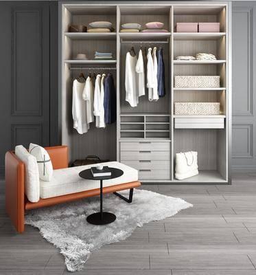 躺椅组合, 衣柜, 服饰, 装饰柜, 茶几, 休闲躺椅, 现代