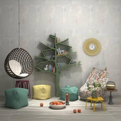 饰品, 装饰品, 摆件组合, 吊椅