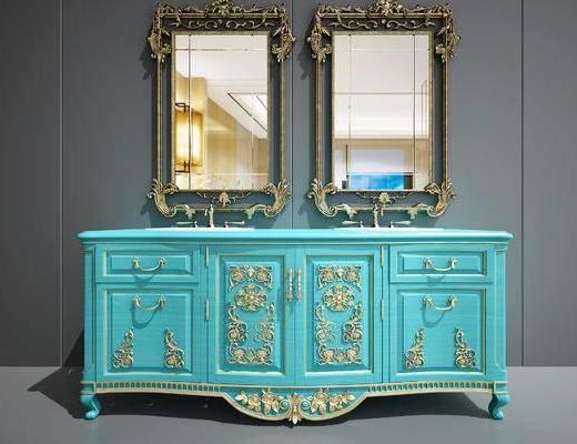 欧式洗手台, 欧式卫浴柜, 美式卫浴柜, 美式洗手台, 美式洗脸台, 欧式洗脸台, 法式卫浴柜