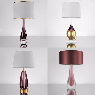 现代简约, 台灯组合, 现代台灯, 台灯