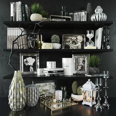 饰品, 摆件, 书籍, 花瓶