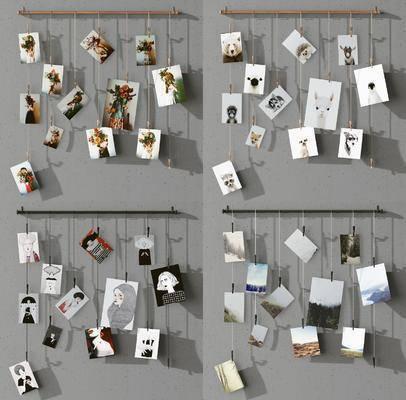 现代照片墙, 照片墙, 墙饰