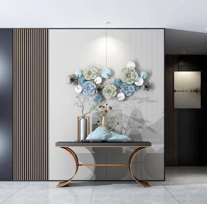 摆件组合, 端景台, 墙饰, 花瓶