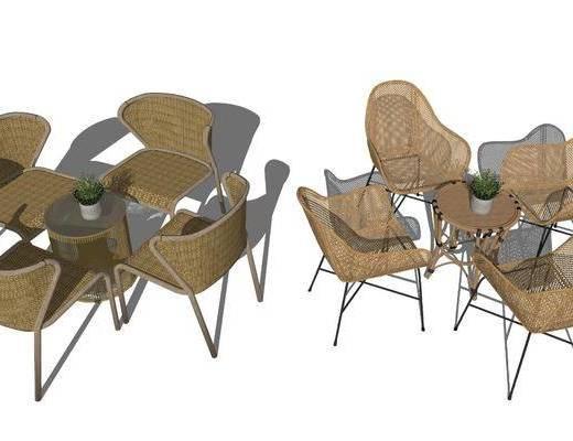户外椅, 单椅, 桌椅组合, 茶几