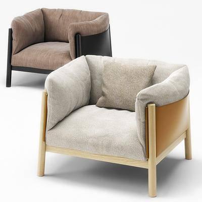 单人沙发, 休闲椅, 单椅, 现代