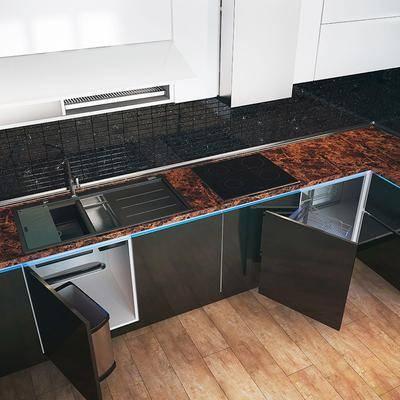 现代橱柜, 现代, 橱柜, 厨房, 消毒柜