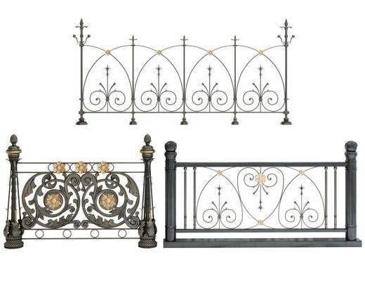 现代风格铁艺护栏