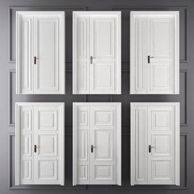 门, 门构件, 简欧门, 双开门, 子母门