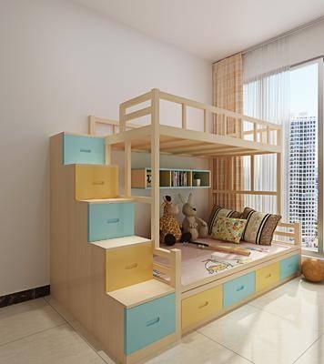 双层床, 儿童床, 北欧