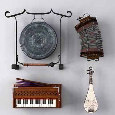乐器, 锣, 琵琶, 簧风琴, 风琴, 六角形