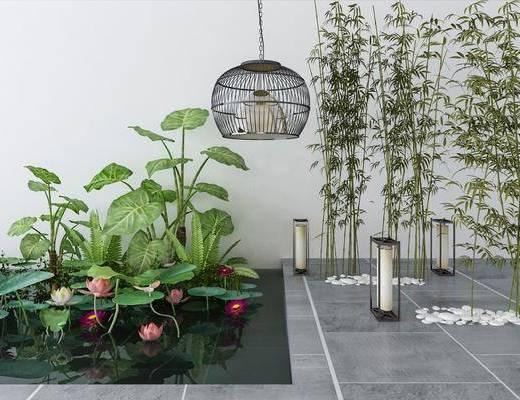 园艺小品, 新中式园艺小品, 新中式