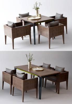 工业风, 火锅店, 桌椅组合, 工装