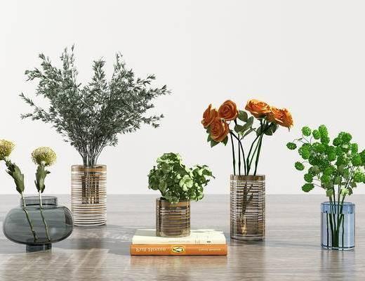 花瓶, 花卉, 玻璃瓶, 植物