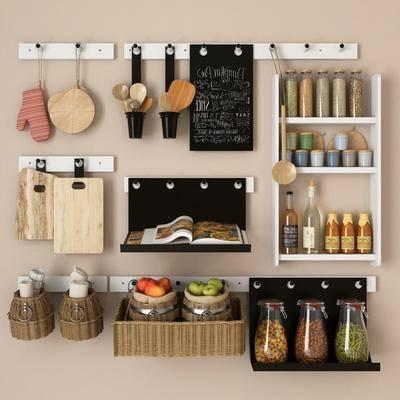 现代, 厨具, 调料瓶, 砧板, 菜板, 罐子