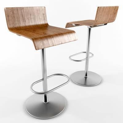 办公座椅, 吧椅, 吧凳, 现代, 北欧