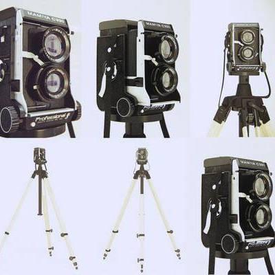 相机, 三脚架, 现代