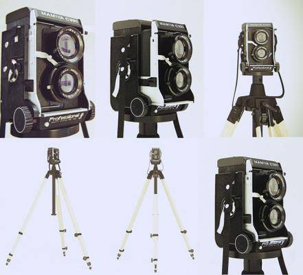 相機, 三腳架, 現代