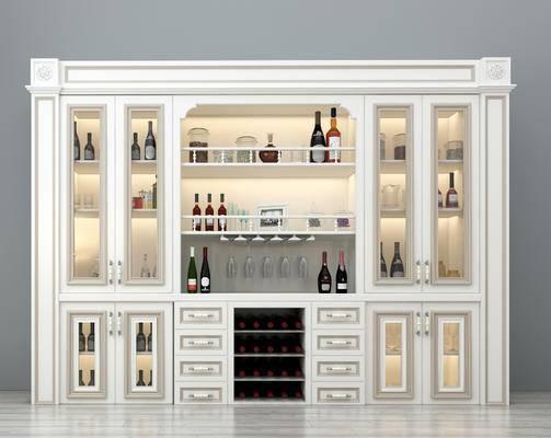 酒柜, 欧式酒柜, 整体酒柜, 个性酒柜, 豪华酒柜, 餐厅酒柜, 装饰酒柜