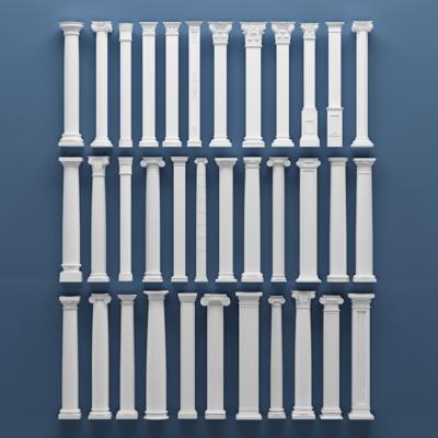 欧式罗马, 石膏柱子, 构件