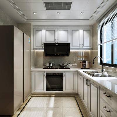 美式厨房, 厨房, 橱柜, 厨具, 美式