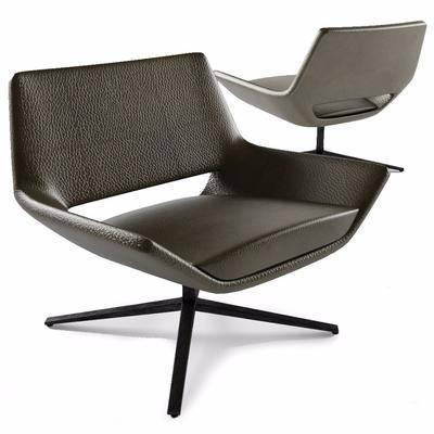 休闲椅, 单人皮革, 单人椅, 现代
