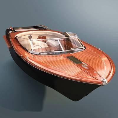 快艇, 游艇, 现代, 船