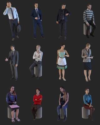 人物模特, 多人, 女人, 男人, 现代