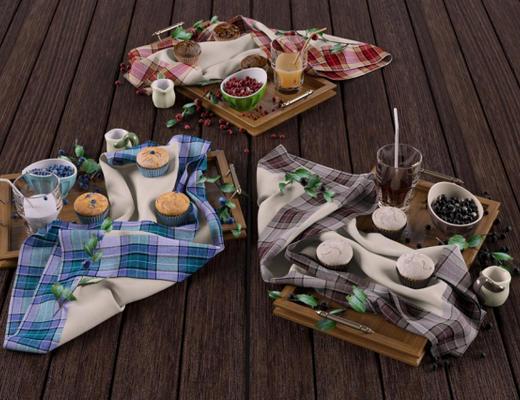 食物, 摆件组合