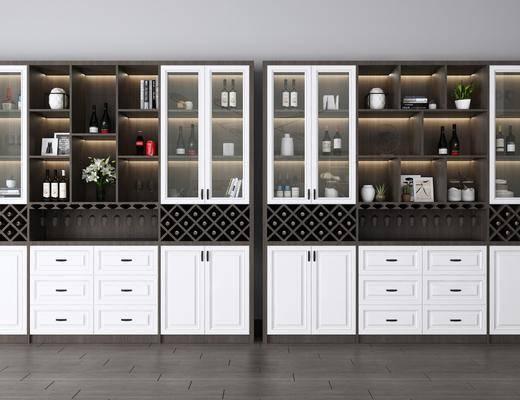 酒柜, 裝飾柜, 酒瓶組合, 擺件組合, 現代