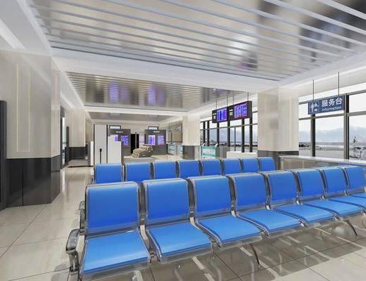 车站, 候车厅, 单椅