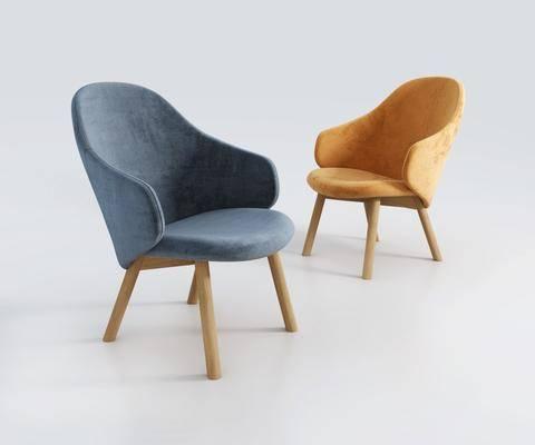 北欧单椅, 单椅, 休闲椅