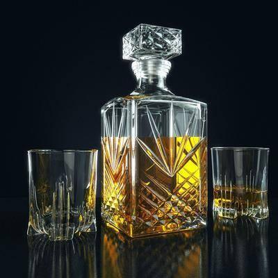 酒瓶, 酒杯, 酒水, 现代