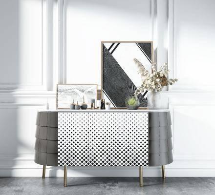 装饰柜, 柜架组合, 摆件组合, 装饰品
