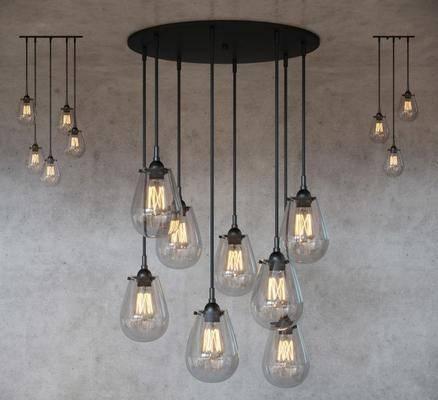 吊灯, 灯泡, 灯, 现代