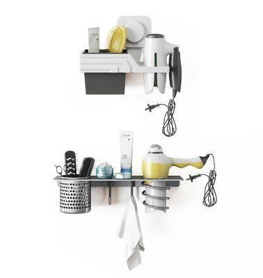 吹风筒, 装饰架, 梳子, 摆件, 现代