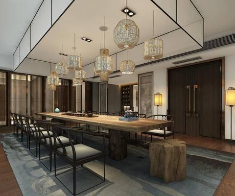 茶室, 灯具, 桌子, 休闲椅