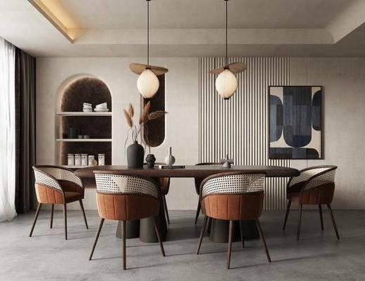 侘寂餐桌椅