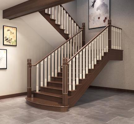 ?#30340;?#27004;梯, 楼梯栏杆, 中式