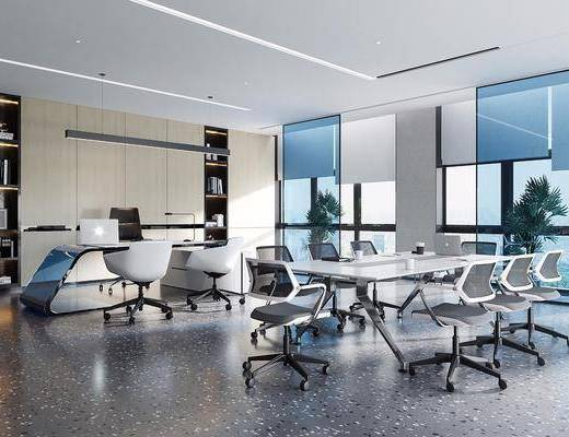 现代办公室会议室