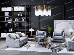 沙发组合, 沙发茶几组合, long8.cc龙8国际pt娱乐沙发, 吊灯, 装饰架, 置物架