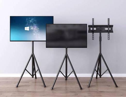 现代, 支架, 电视机, 摆件