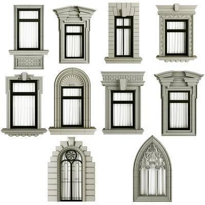 简欧, 欧式, 窗, 窗口, 窗户