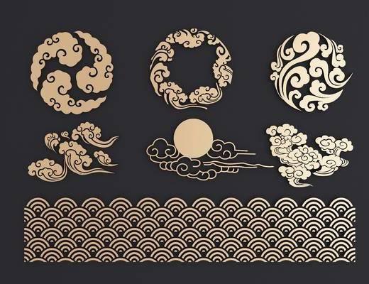 镂花, 雕花, 墙饰, 中式, 双十一