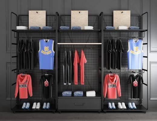 金属衣架, 铁艺衣架, 衣柜服装, 服饰组合, 工业风