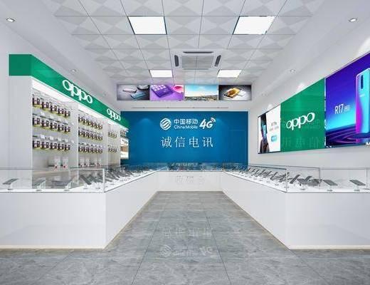 手机店, 展示台, 手机, 现代