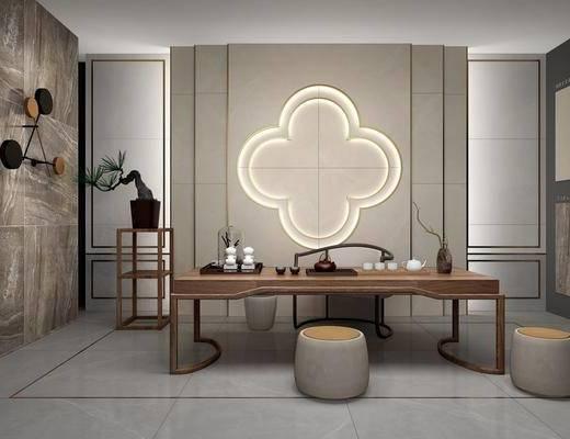 桌椅组合, 墙饰, 装饰品, 茶具组合