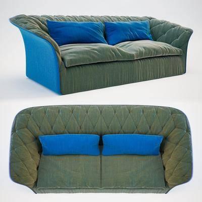 布艺沙发, 双人沙发, 现代